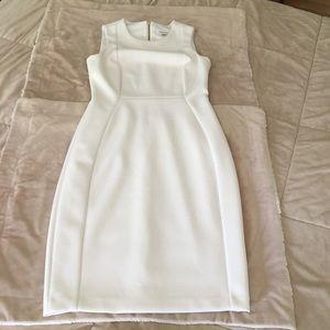 GUC Calvin Klein sleeveless bodycon white dress 4